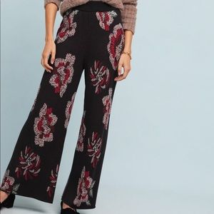 NWT Floral Sweater Pants Size XS